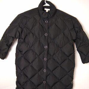 Women's H&M Black Down Winter Coat/Parka sz L